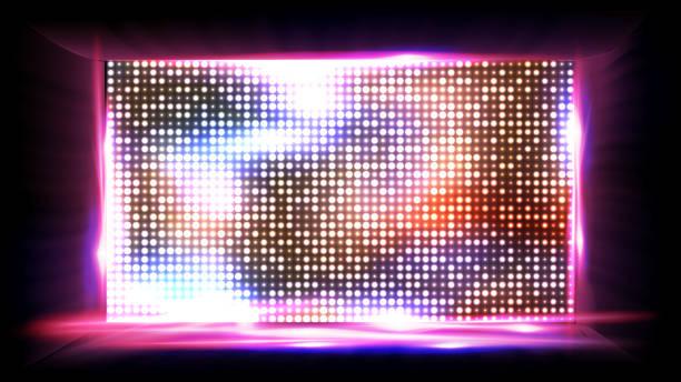 ilustrações de stock, clip art, desenhos animados e ícones de screen led vector. light board. cinema panel. illustration - led painel