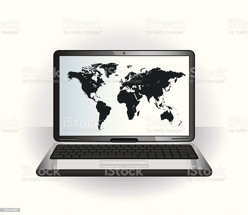 screen map vector art illustration