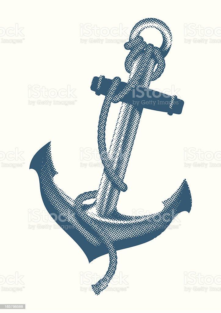screen print anchor royalty-free stock vector art