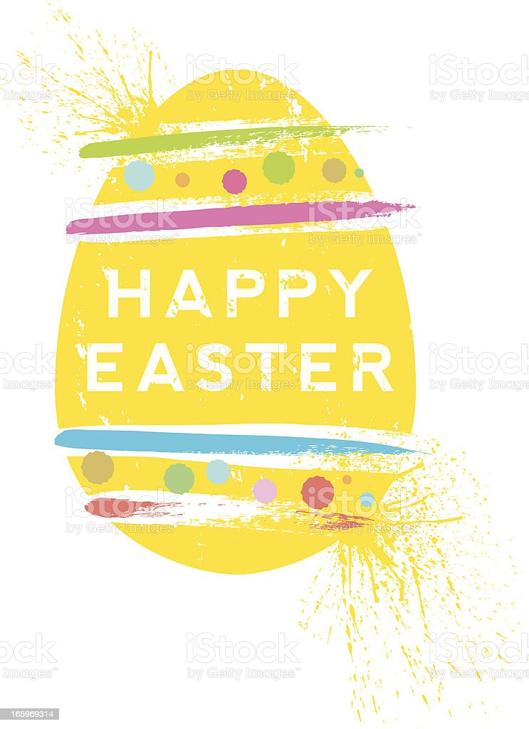 Screen print effect Happy Easter Egg royalty-free screen print effect happy easter egg stock vector art & more images of celebration
