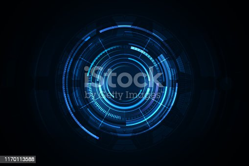 UI HUD screen tech system innovation concept background template. vector illustration