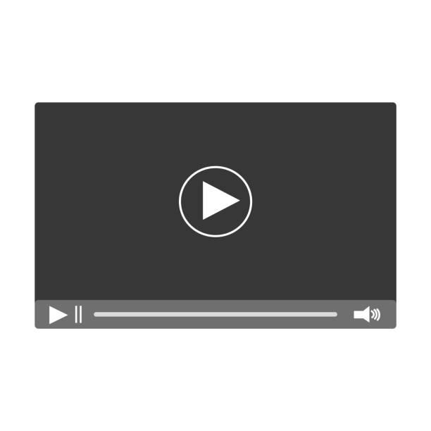 ilustrações, clipart, desenhos animados e ícones de vídeo em tela. vector - brincadeira