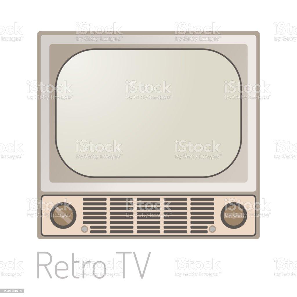 Tv Bildschirm Vintage Vorlage Elektronische Vorrichtung Technologie ...