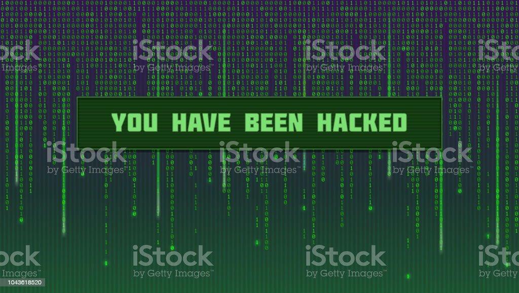 Screen With Binary Computer Code Code Listing Like In Matrix