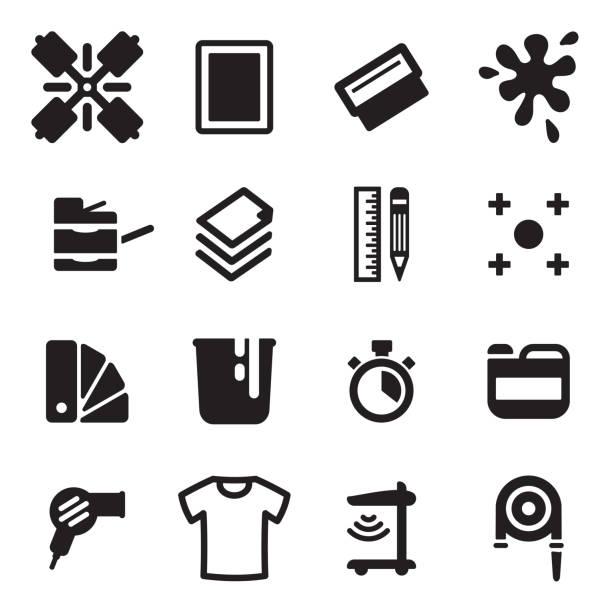 illustrations, cliparts, dessins animés et icônes de sérigraphie icônes - raclette