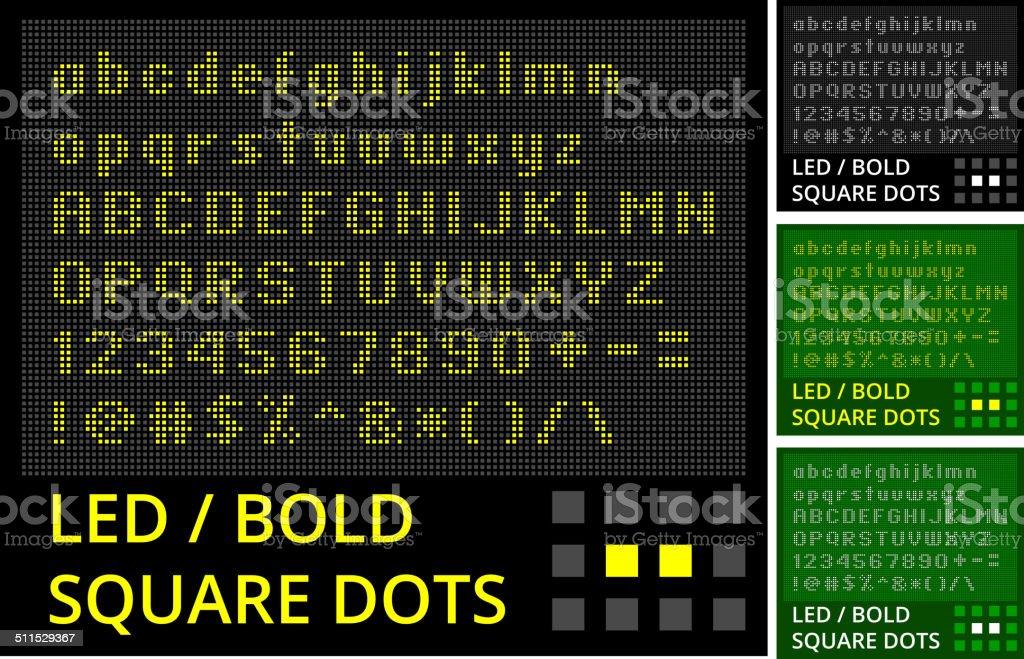 Screenshot graphic of various LED monitor display sets vector art illustration