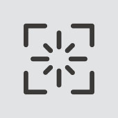 screenshot icon isolated of flat style.