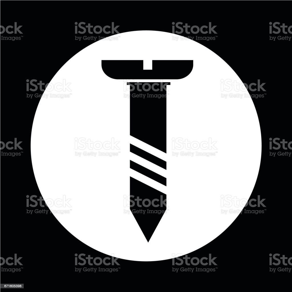 screw icon vector art illustration