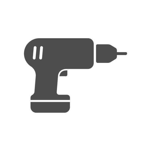 screwdriver drill vector icon screwdriver drill vector icon isolated on white background. screwdriver drill flat icon for web, mobile and user interface design cordless phone stock illustrations