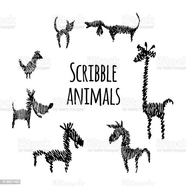 Scribble animals vector id916807492?b=1&k=6&m=916807492&s=612x612&h= l5wlu7y9gto5jc5lqxncwinoyel1u  k hejzmi3ng=