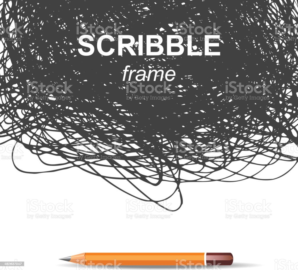 scribble background vector art illustration