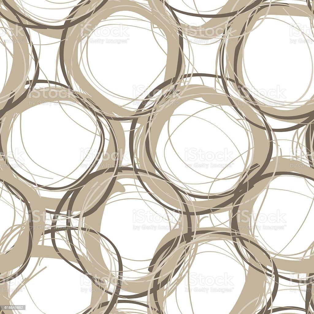 Scribble circles seamless pattern vector art illustration