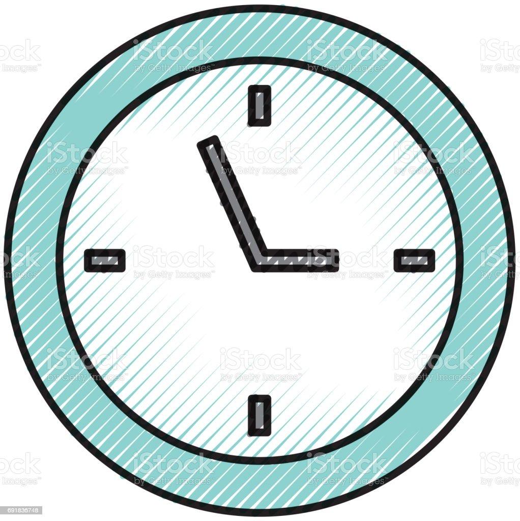 Ilustraci n de dibujos animados de reloj de garabato y m s for Imagenes de relojes