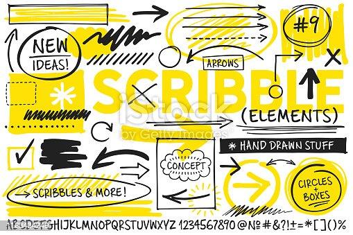 istock Scribble Design Elements 1183434249