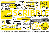 istock Scribble Design Elements 1183434249
