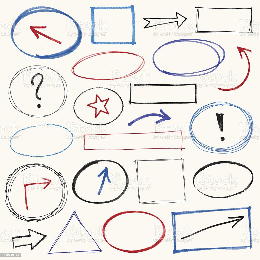Scribble Design Elements royalty-free stock vector art