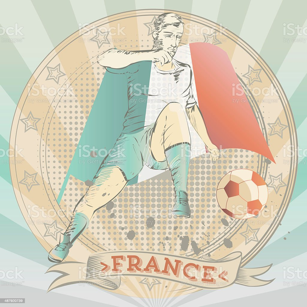 Scribble of a french soccer player royalty-free scribble of a french soccer player stock vector art & more images of adult