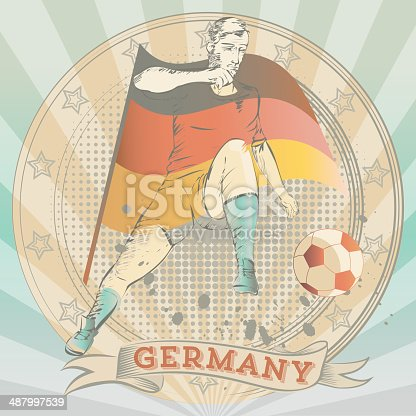 istock scribble of a german soccer player 487997539