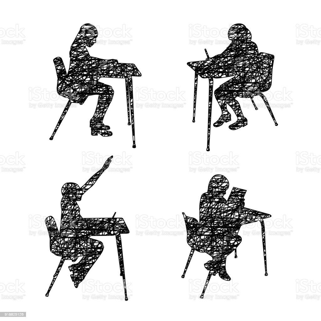 Karalama Okul öğrenci Stok Vektör Sanatı Abdnin Daha Fazla