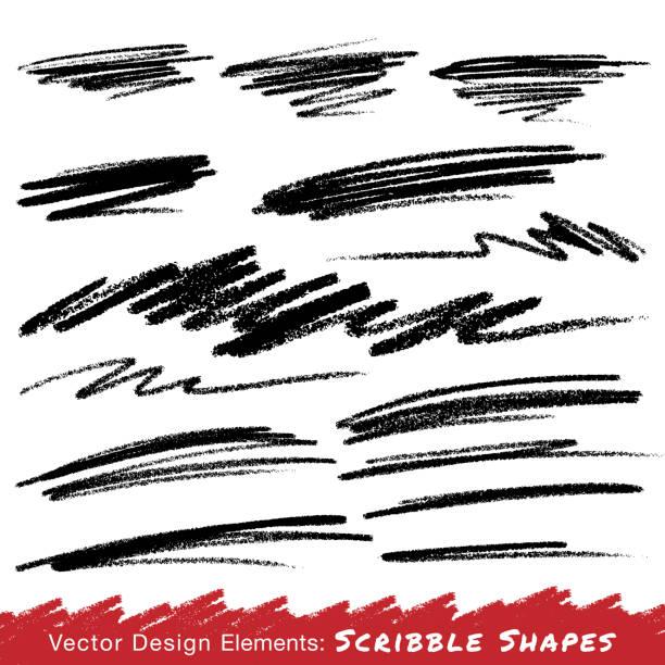 illustrations, cliparts, dessins animés et icônes de gribouillage, images réalisées à la main avec un crayon - griffonnage