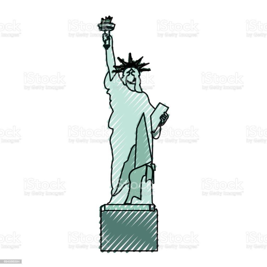 Ilustración de Estatua De Garabatos De Dibujos Animados De La ...