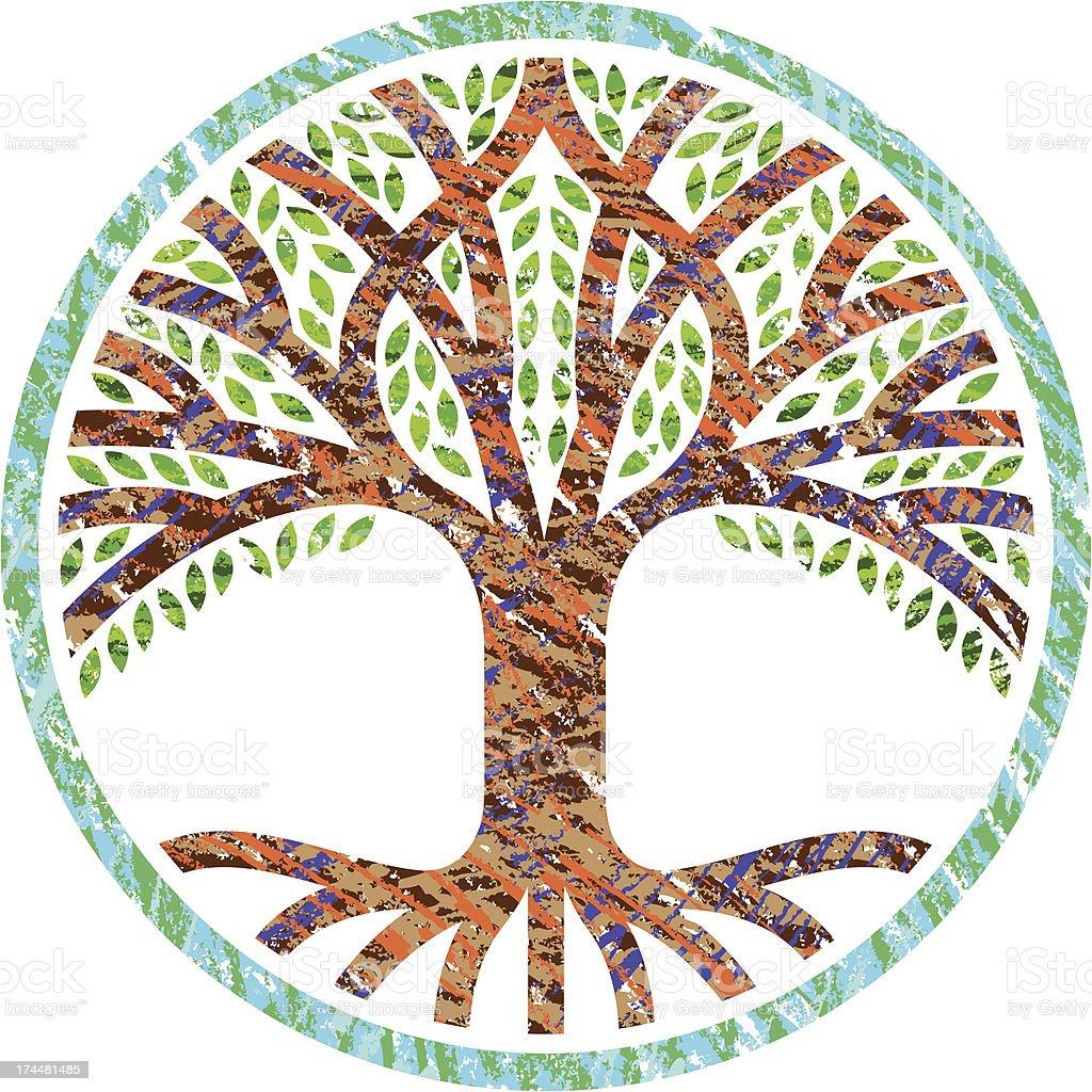 Scribble tree icon royalty-free stock vector art