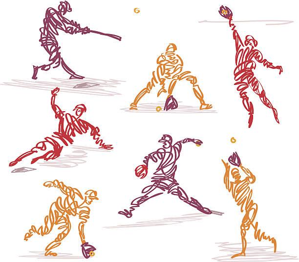 走り書き野球 - ソフトボール点のイラスト素材/クリップアート素材/マンガ素材/アイコン素材