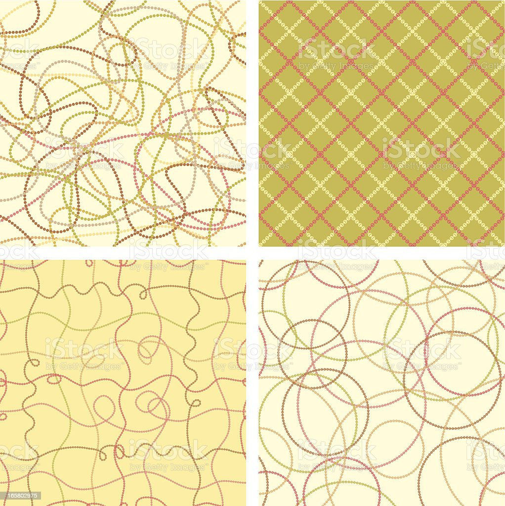 Scribbled Dotted Lines Patterns royalty-free stock vector art