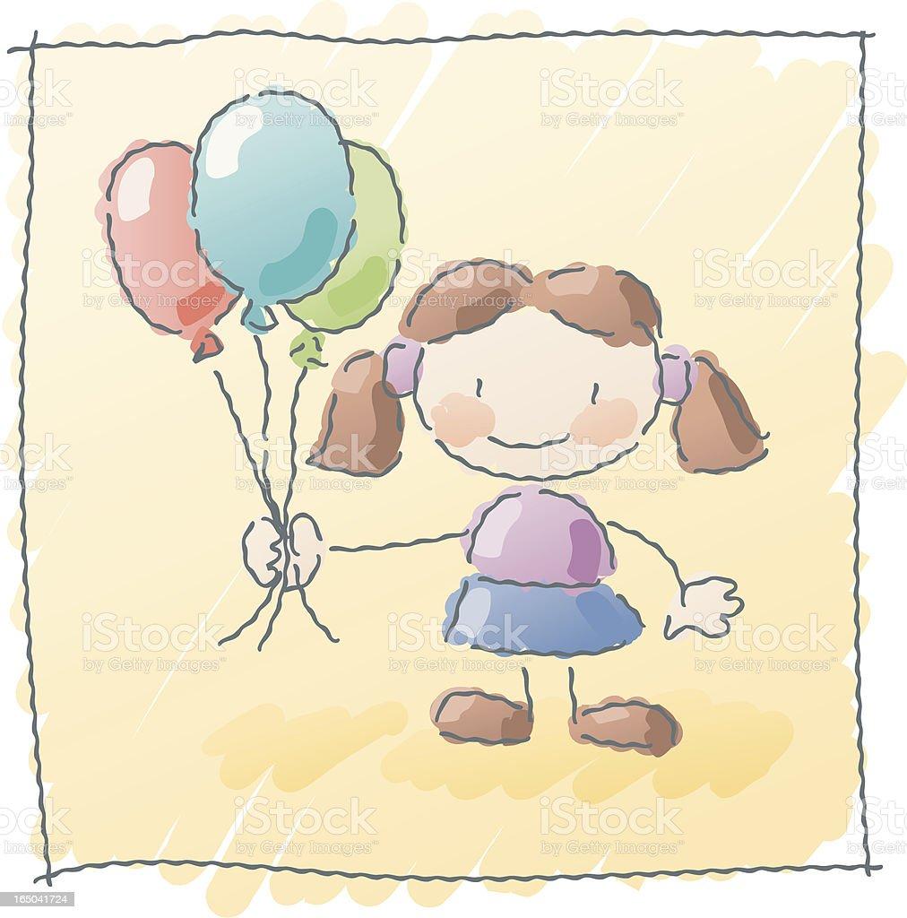 scribbles: balloon royalty-free stock vector art