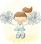 scribbles: cheerleader