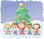 istock scribbles: christmas kids 165075292