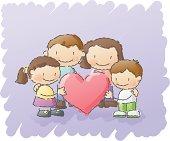 scribbles: family love