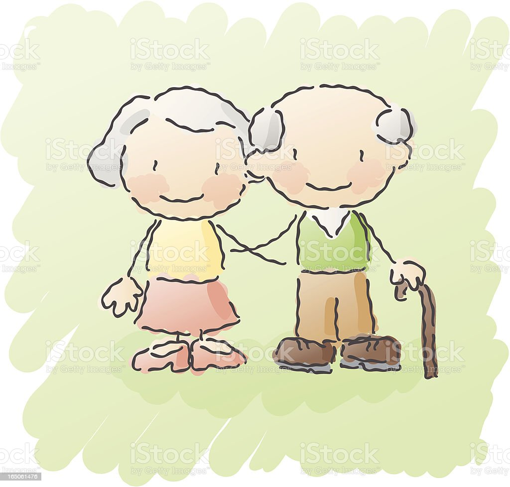 scribbles: grandparents royalty-free scribbles grandparents stock vector art & more images of 60-64 years
