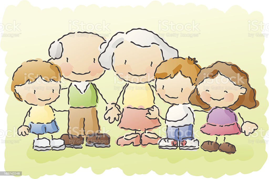 scribbles: grandparents royalty-free scribbles grandparents stock vector art & more images of adult