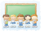 scribbles: kids with uniforms