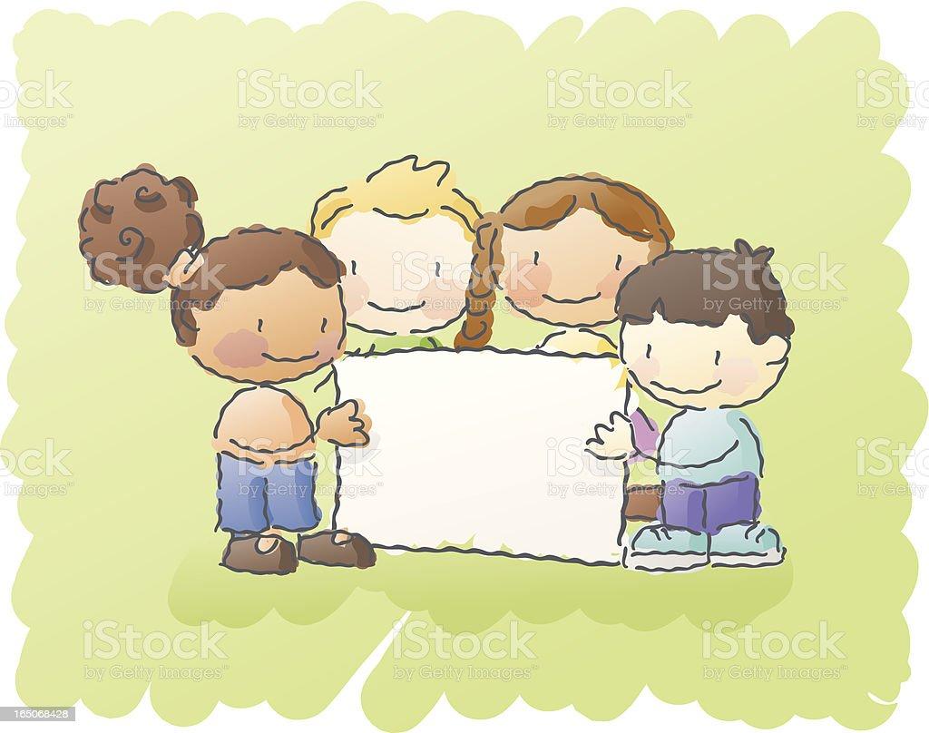 scribbles: sign kids royalty-free stock vector art