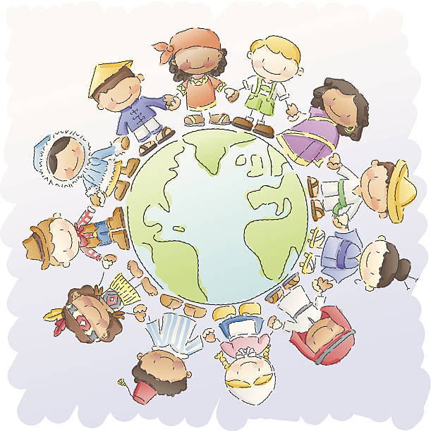 scribbles: small world - dutch traditional clothing stock illustrations, clip art, cartoons, & icons