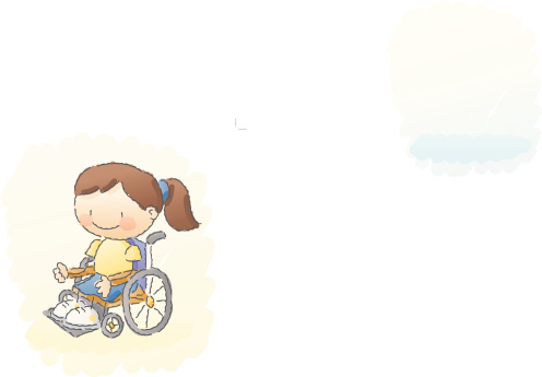 scribbles: wheelchair girl
