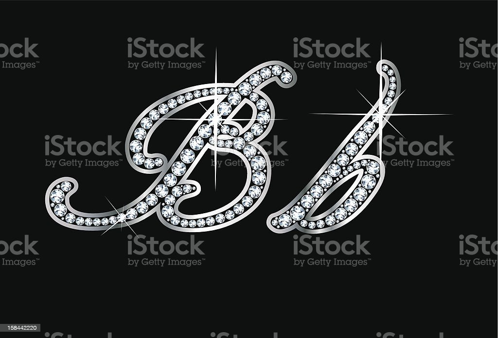 Script Diamond Bling Bb Letters royalty-free script diamond bling bb letters stock vector art & more images of alphabet