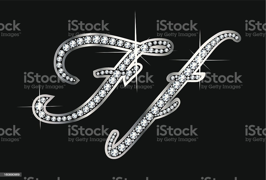 Script Diamond Bling Ff Letters royalty-free script diamond bling ff letters stock vector art & more images of alphabet