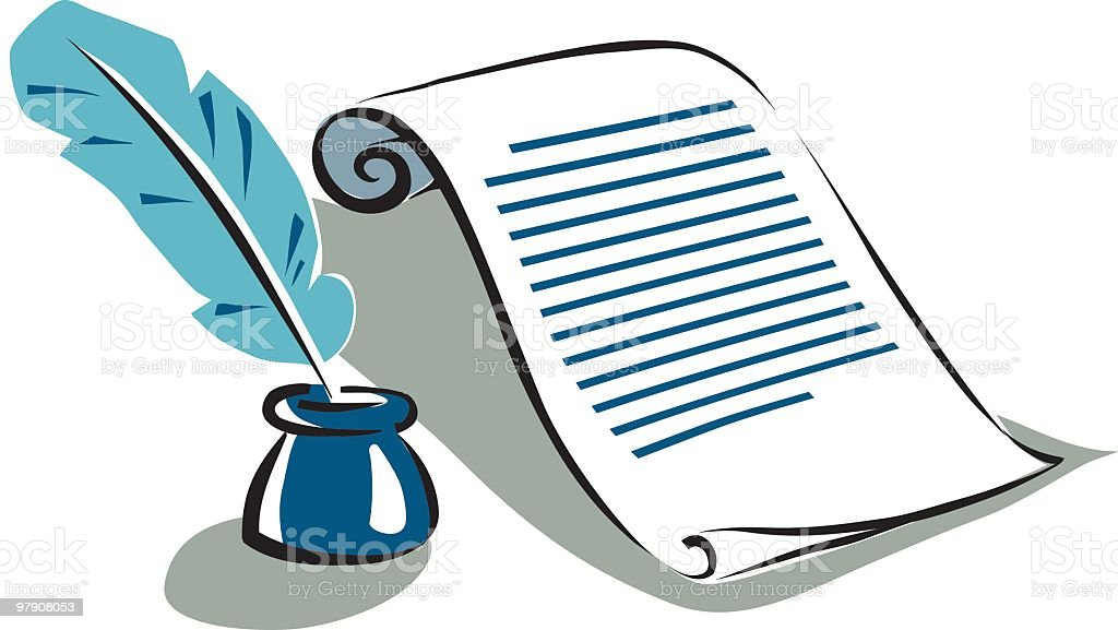 script with pen royalty-free script with pen stock vector art & more images of black color
