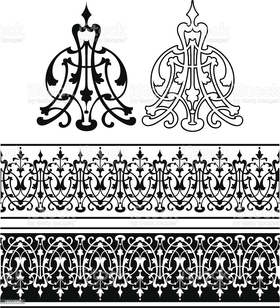 Scroll and frieze royalty-free stock vector art