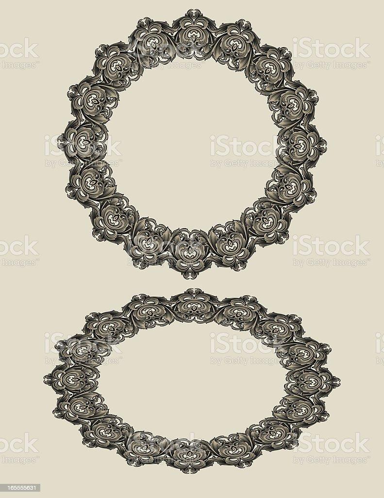 Scroll Arabesque Circle royalty-free stock vector art
