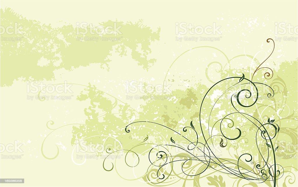 Scroll Art Background vector art illustration