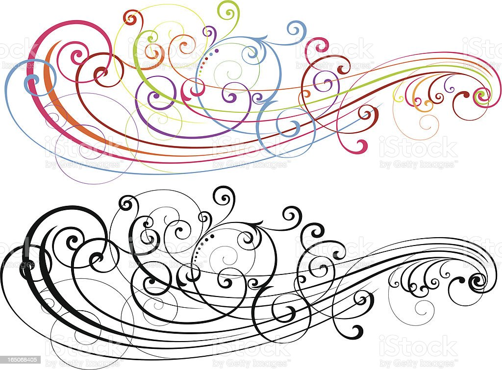 Scroll Art Formation royalty-free scroll art formation stock vector art & more images of art