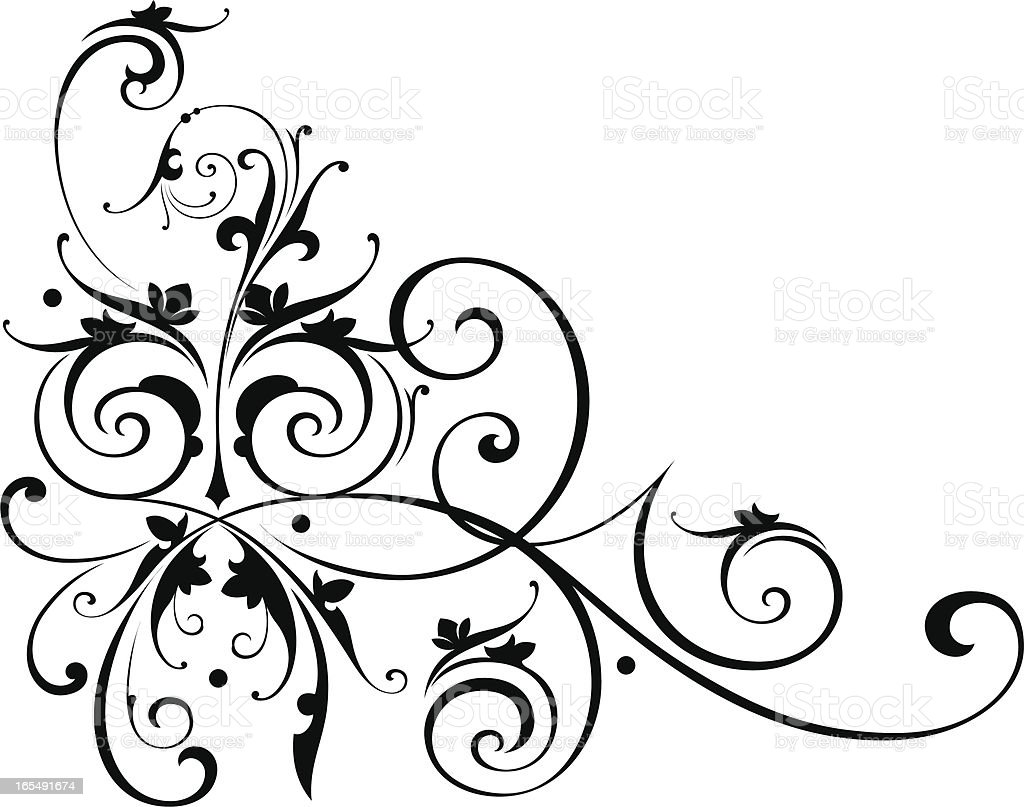 scroll art stock vector art more images of antique 165491674 istock rh istockphoto com free scroll clipart for easy copying free scroll clip art border