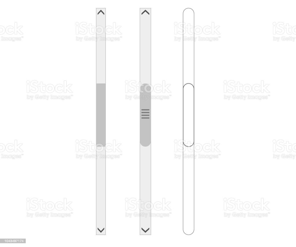Scroll bars - Grafika wektorowa royalty-free (Bez ludzi)