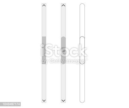 Scroll bars set vector