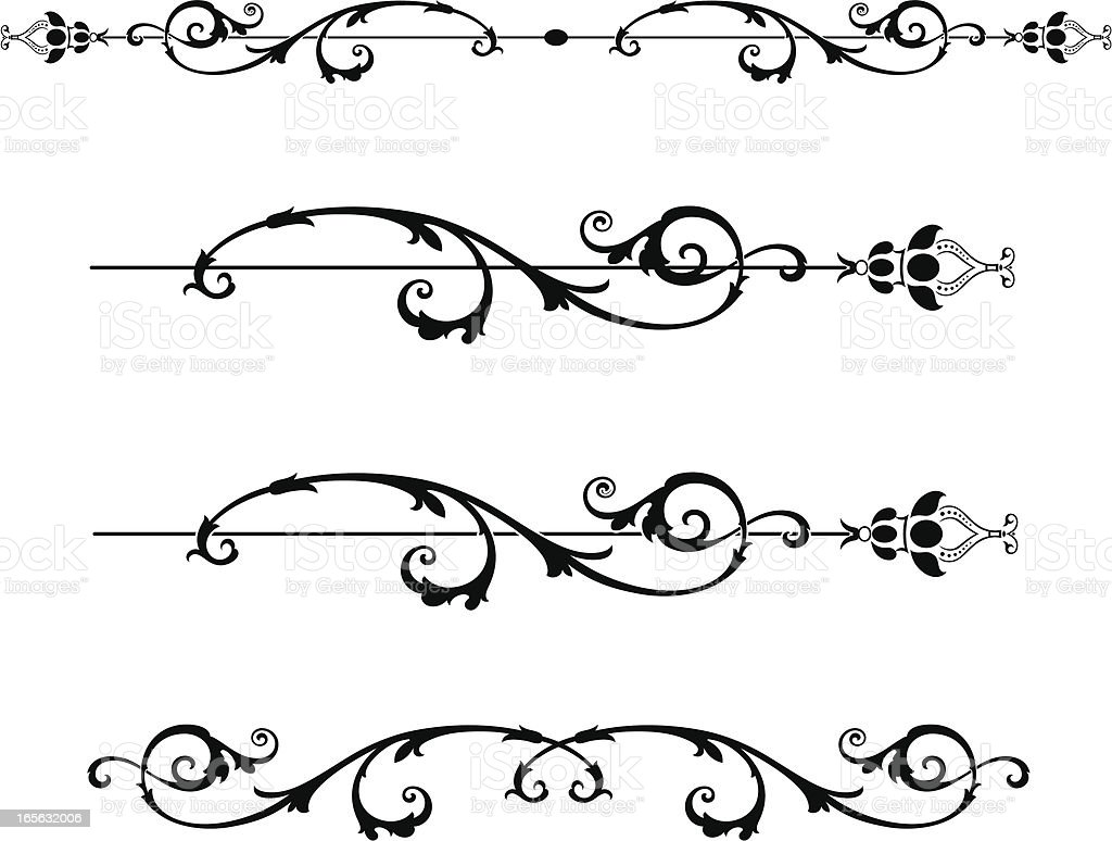 scroll borders stock vector art more images of art nouveau