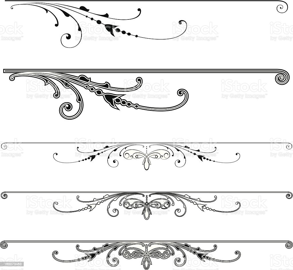 Scroll Centres and Ends royalty-free stock vector art